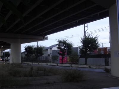 八潮駅入口交差点のあたり