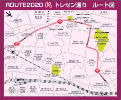 トレセン通り地図
