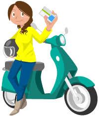 バイクと免許証