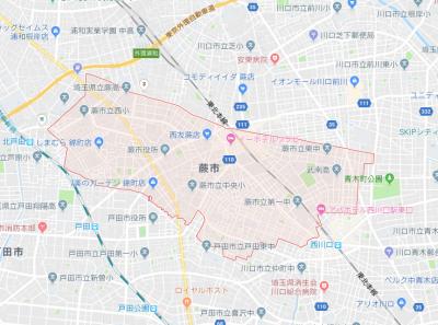 蕨市 地図