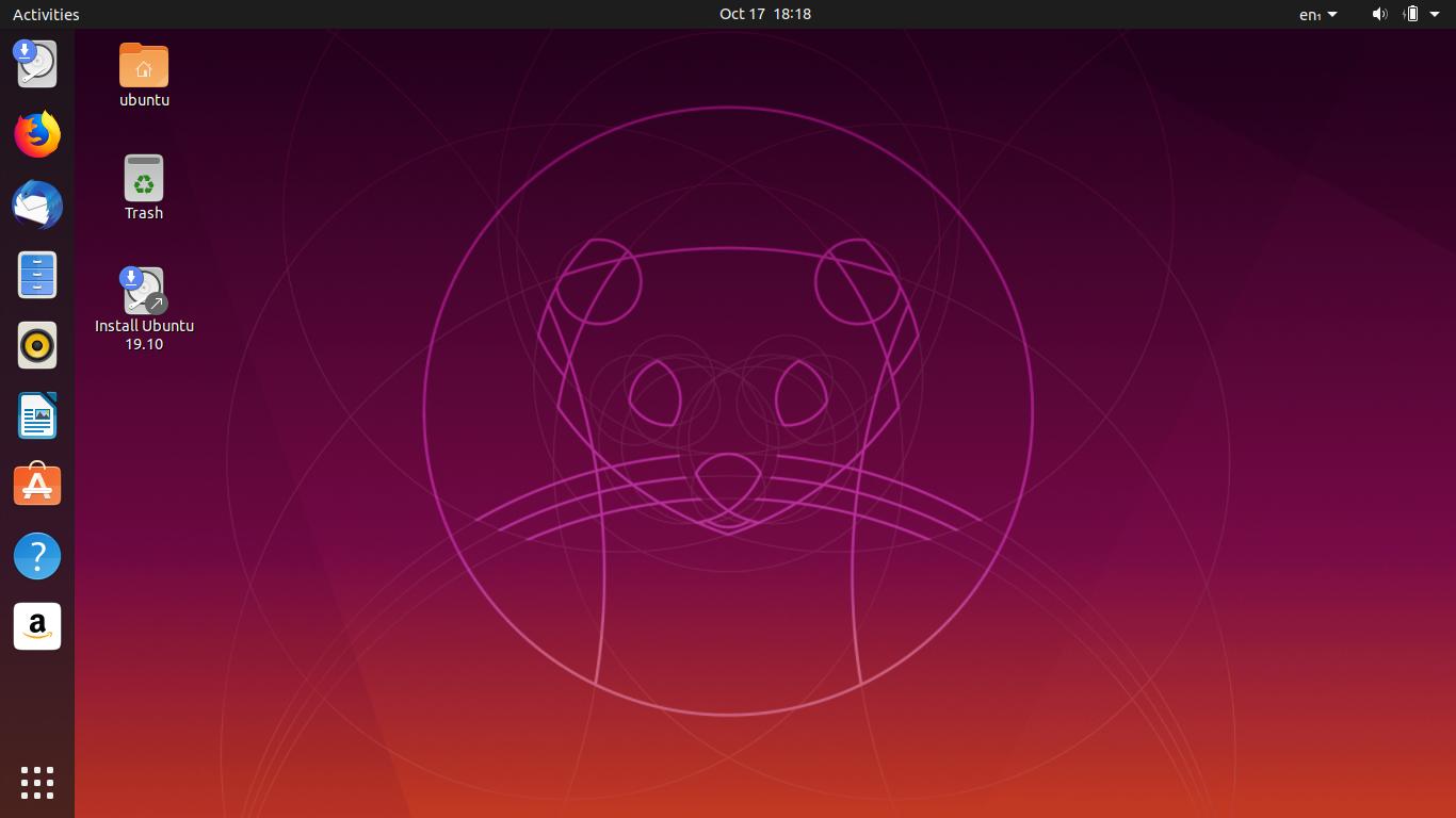 Ubuntu画面