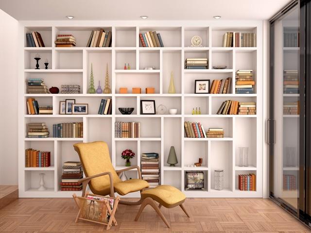 余裕のある本棚のイメージ