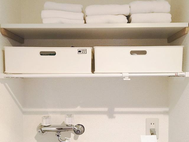 洗面所の隙間収納イメージ