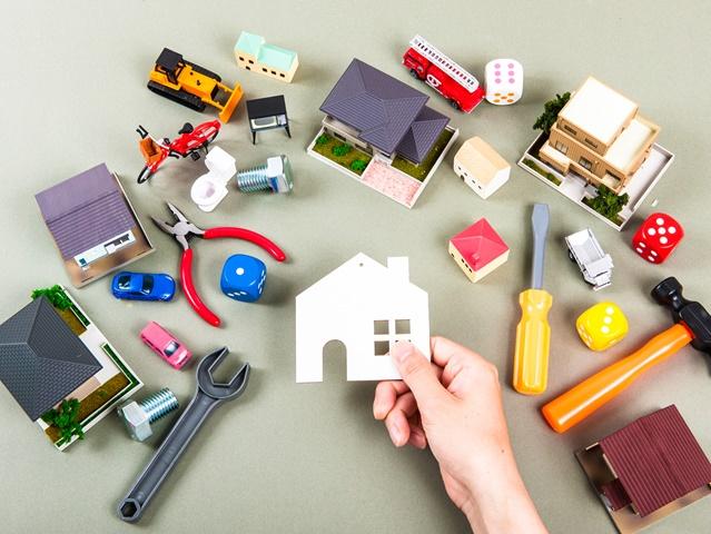 家具の収納に悩むイメージ