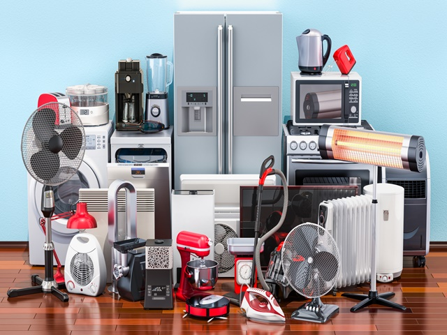 家電が多く収納に困るイメージ