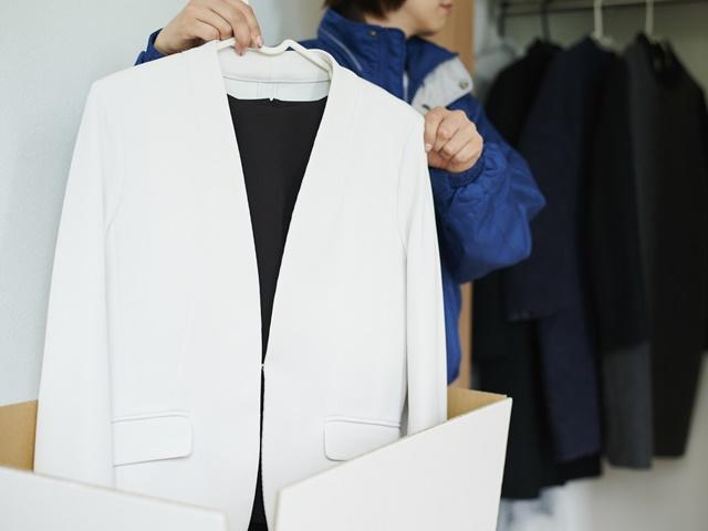 服を保管するイメージ