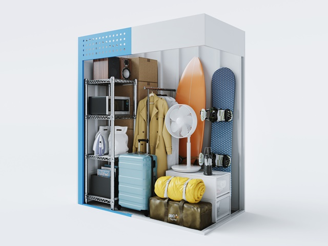 トランクルームの収納イメージ
